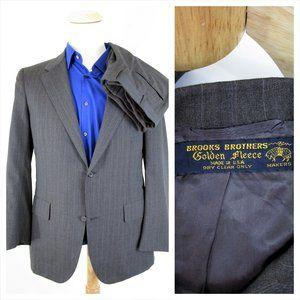 Vintage Brooks Brothers Golden Fleece Gray Suit 40